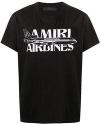 Amiri ロゴプリント Tシャツ - ブラック
