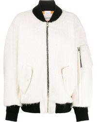 Laneus オーバーサイズ ボンバージャケット - ホワイト
