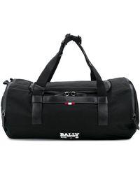 Bally ロゴパッチ ボストンバッグ - ブラック