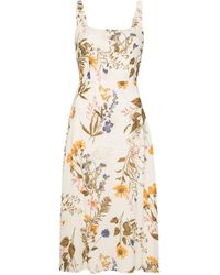 Reformation Платье Миди Camari С Цветочным Принтом - Многоцветный