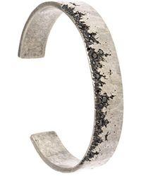 Tobias Wistisen Granular Relief Bangle - Metallic