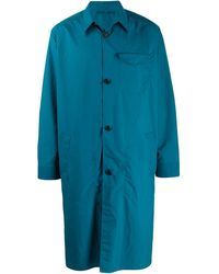 Ferragamo ボタン パーカーコート - ブルー