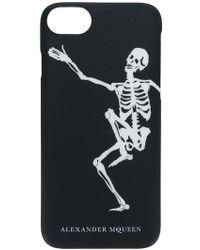 Alexander McQueen - Dancing Skeleton Iphone 8 Case - Lyst