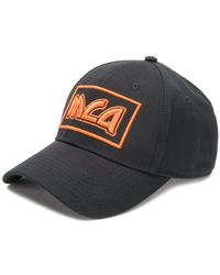 McQ - Orange Logo Embroidered Cap - Lyst