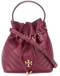 Tory Burch Quilted Bucket Bag - Red