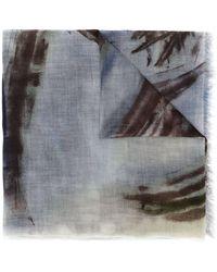 Faliero Sarti Fular con motivo abstracto - Azul