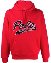 Polo Ralph Lauren Kapuzenpullover mit Logo - Rot