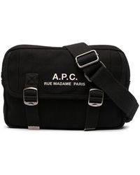 A.P.C. Logo Print Belt Bag - Black