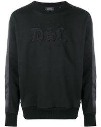 DIESEL - Lettering Detail Sweatshirt - Lyst