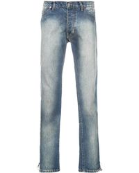 Rhude Stonewashed Bootcut Jeans - Blue