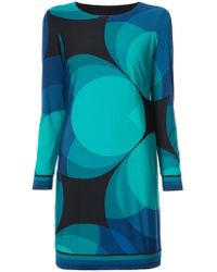 Trina Turk - Geometric Print Dress - Lyst