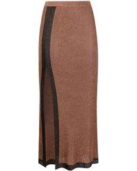 Missoni Side Slit Midi Skirt - Brown