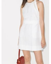 Chloé Платье Мини - Белый