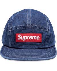 Supreme Ausgeblichene Baseballkappe - Blau