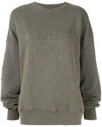 Amiri - Logo Distressed Sweatshirt - Lyst