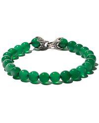 David Yurman - Spiritual Beads Green Onyx Bracelet - Lyst