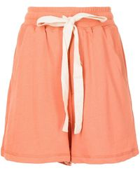 Lee Mathews Shorts con cordones - Naranja
