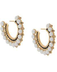 Erdem Cluster Hoop Earrings - Metallic