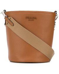 Prada Bucket-tas Met Logo - Bruin