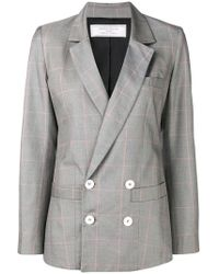 Societe Anonyme - Checked Double Breasted Blazer - Lyst