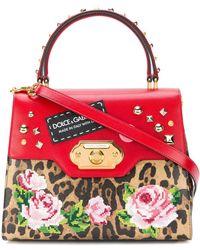 Dolce & Gabbana 'Welcome' Handtasche mit Leoparden-Print - Braun