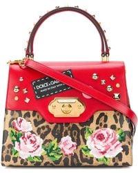 Dolce & Gabbana Bolso tote Welcome estampado - Marrón