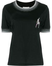 Marco De Vincenzo ディア エンブロイダリー Tシャツ - ブラック