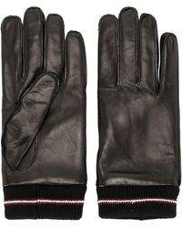 Bally Ribbed Cuff Gloves - Black