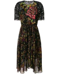 Antonio Marras - Floral Print Dress - Lyst