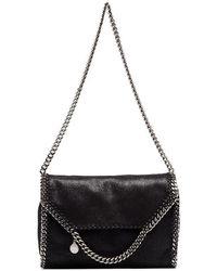 69363ab6b3f9 Stella McCartney - Black Falabella Big Chain Trim Shoulder Bag - Lyst