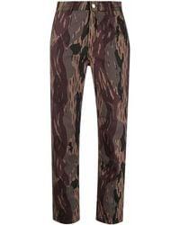 Carhartt WIP Pantalon court imprimé camouflage - Vert