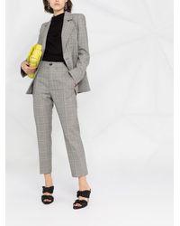Vivienne Westwood チェック テーラードパンツ - グレー