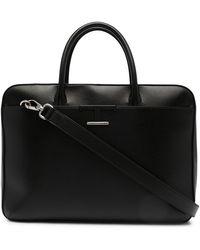 Tod's Medium Timeless Leather Briefcase - Black
