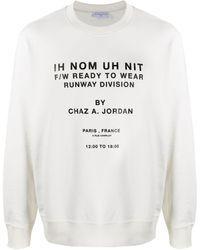 ih nom uh nit Runway Division Employee スウェットシャツ - ホワイト