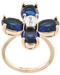 Tory Burch Buddy Clover Ring - Blue