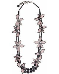 Giorgio Armani Oversized-flower Double Chain Necklace - Multicolour
