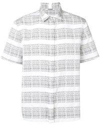 Chalayan Chemise à manches courtes - Blanc