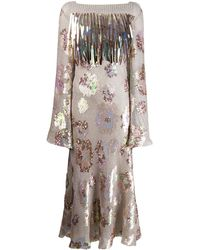 Talbot Runhof Tomala Sequin Flared Dress - Multicolour