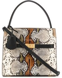 Tory Burch Top handle snakeskin-effect tote - Multicolore