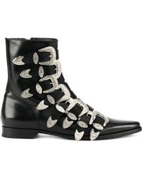 DSquared² - Buckled Fitted Boots - Lyst