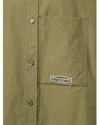 Wooyoungmi Рубашка С Короткими Рукавами И Логотипом - Зеленый