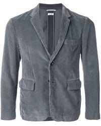 Thom Browne Garment Dye Corduroy Sport Coat - Gray