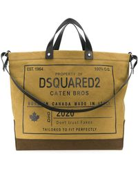 DSquared² Oversized Logo-print Tote - Green