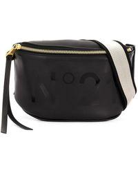 N°21 ロゴ ベルトバッグ - ブラック