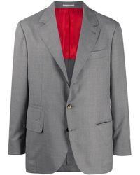 Brunello Cucinelli Однобортный Пиджак - Серый