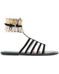 Pollini - Strappy Flat Sandals - Lyst