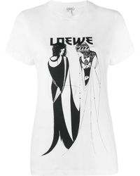 Loewe Salome Logo Print T-shirt - White
