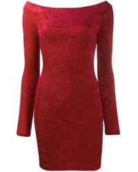 Balenciaga Облегающее Платье Мини - Красный
