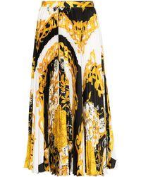 Versace バロックプリント スカート - ブラック
