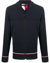 Tommy Hilfiger Zipped Long-sleeve Sweater - Blue